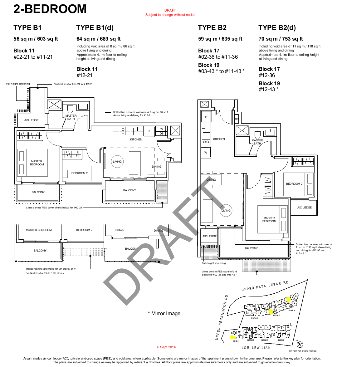 Forest Wood Floor Plan 2BR Type B1 B2