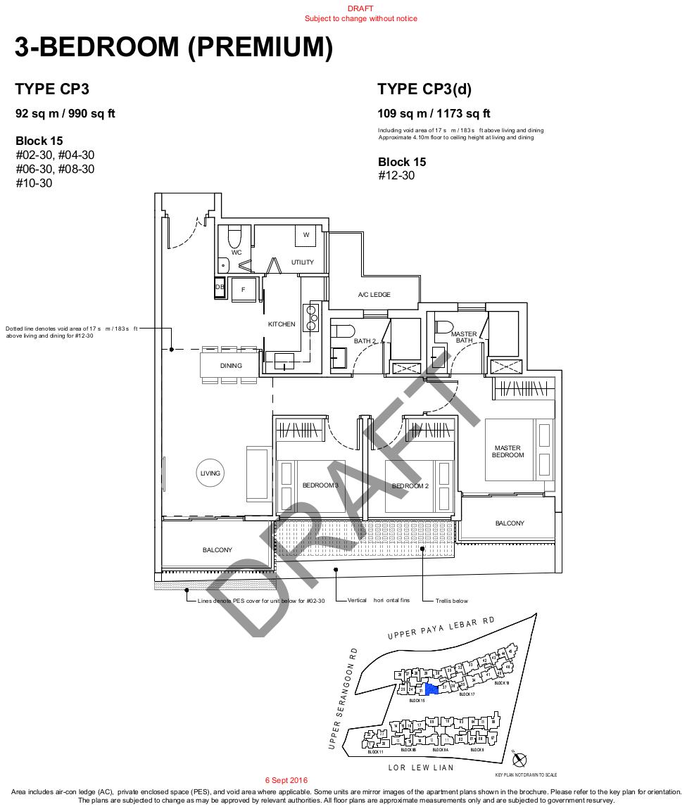 Forest Woods Floor Plans 3BR Premium Type CP3