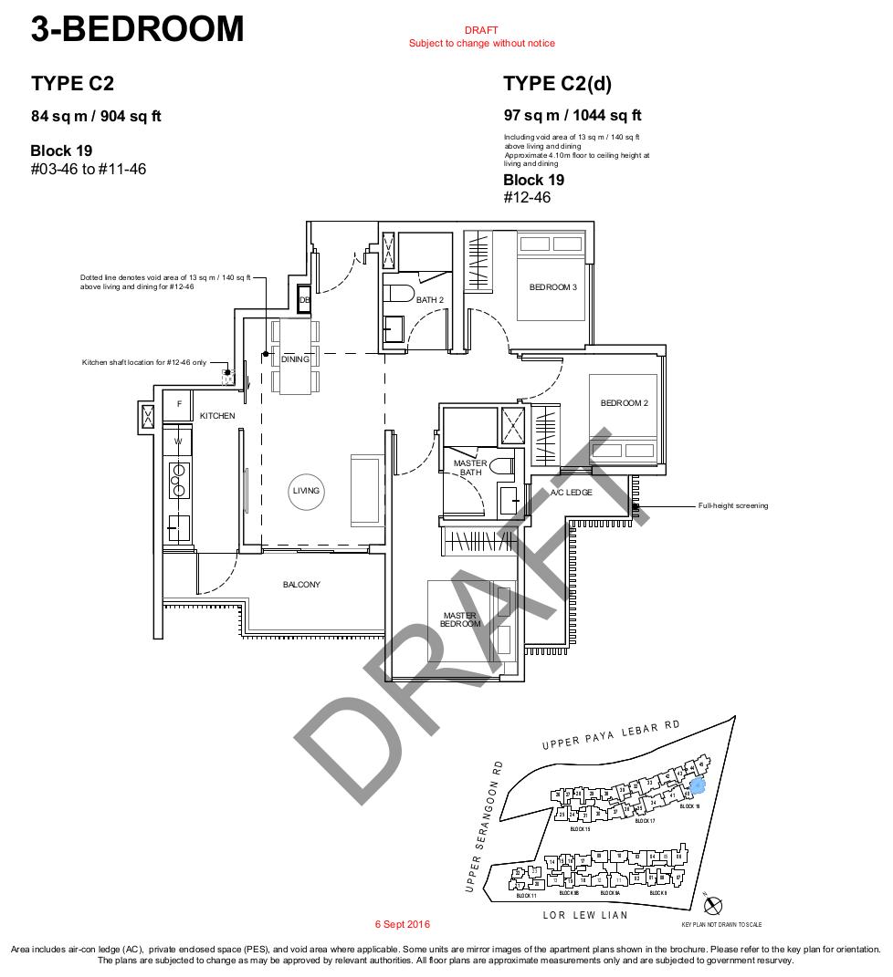 Forest Woods Floor Plans 3BR Type C2
