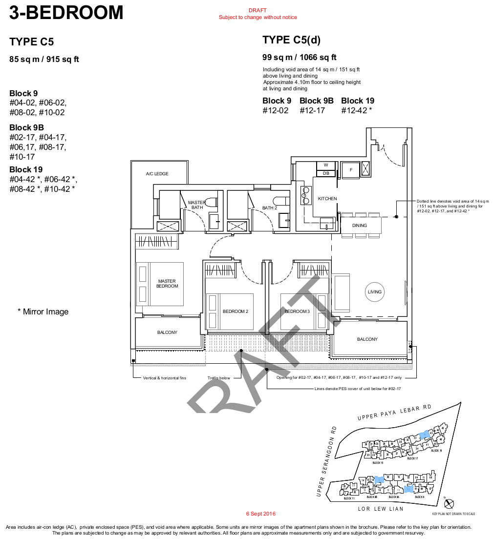 Forest Woods Condo Floor Plan 3 Bedroom Type C5