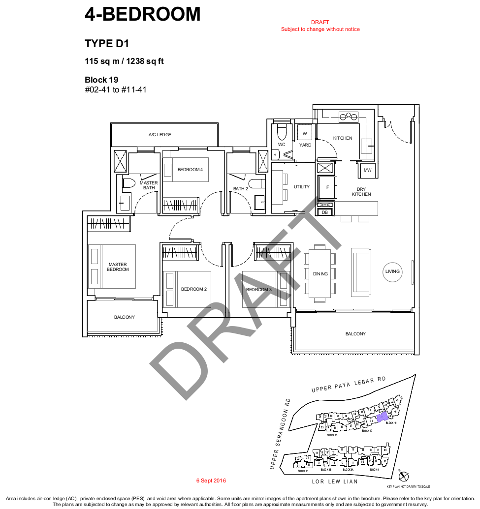 Forestwood Residences Floor Plan 4 Bedroom Type D1